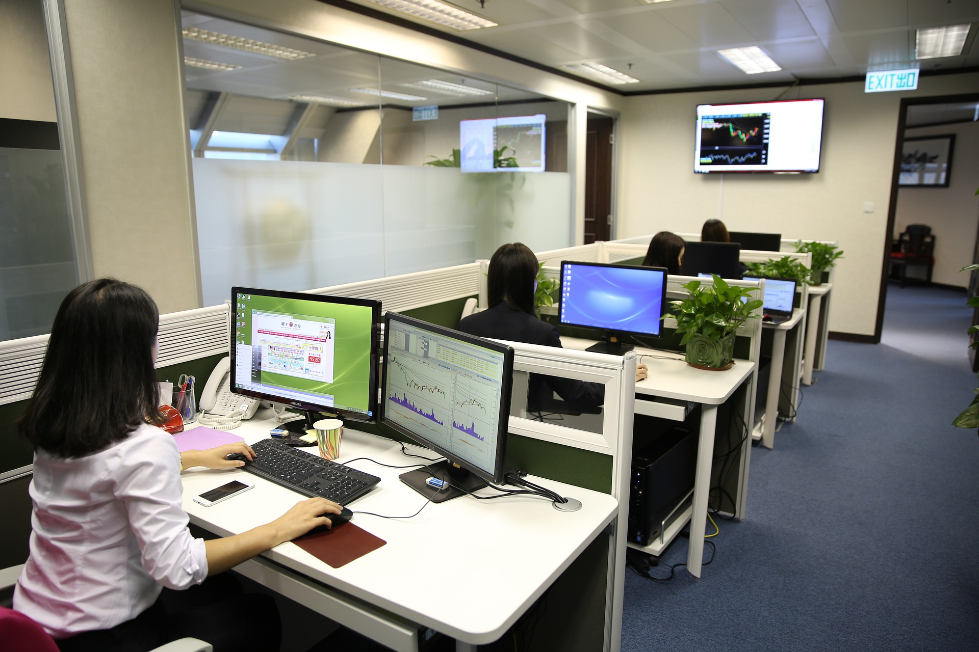 Call center and cubicles