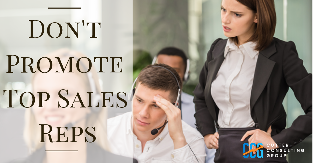You are currently viewing 3 Reasons Why Top Sales People Make Terrible Sales Managers