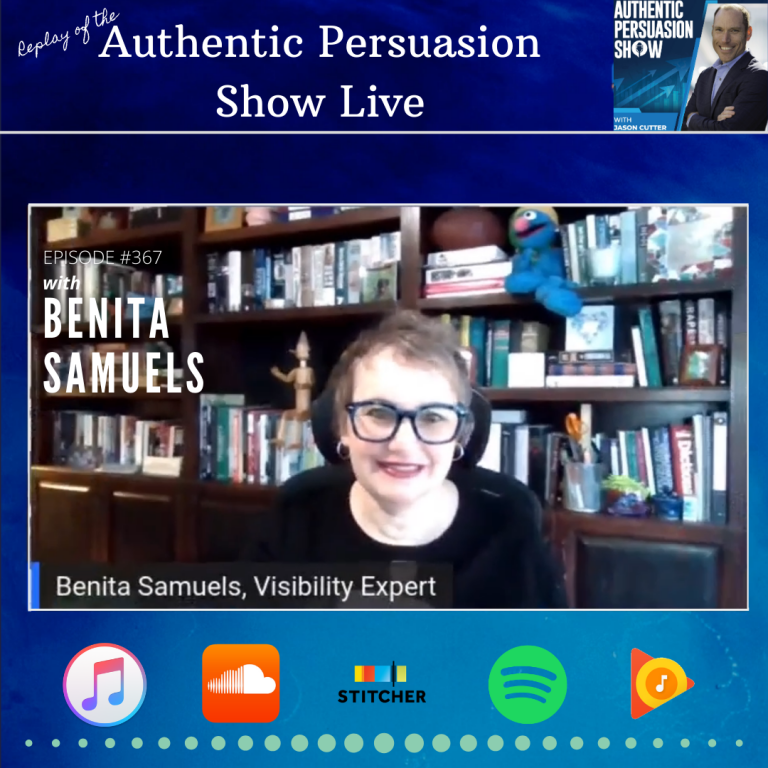 [367] APS Live with Benita Samuels (Replay)